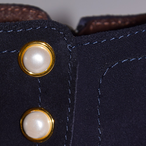 Suede Ankle Boots with Pearls by Small Shoes by Cristina Correia