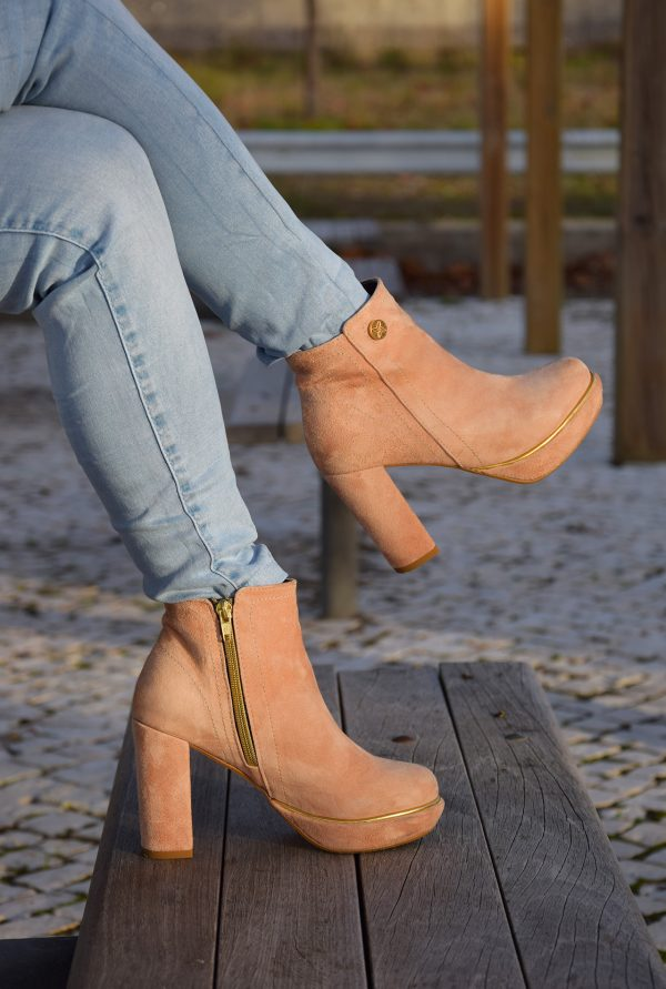 Nude Ankle Boots in Petite Sizes