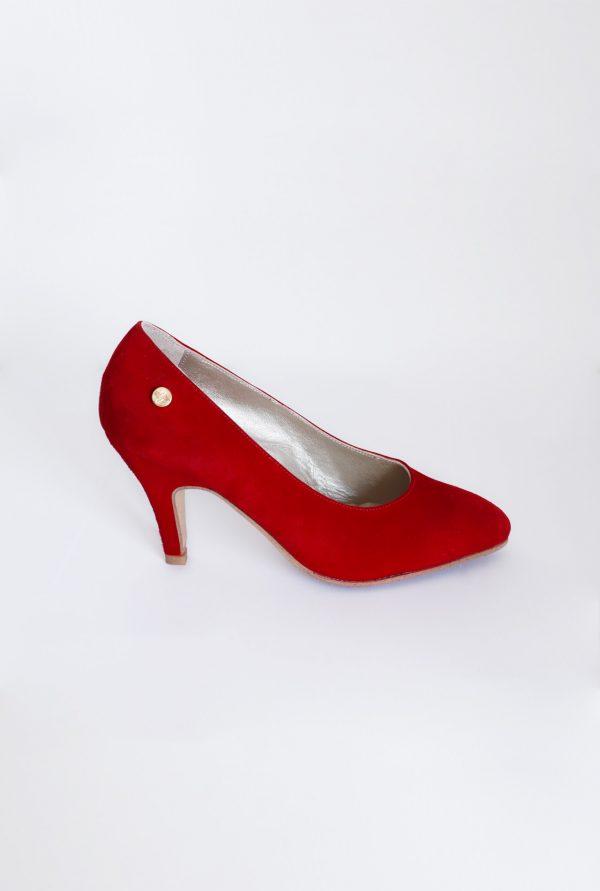 Strong Red Suede Heels