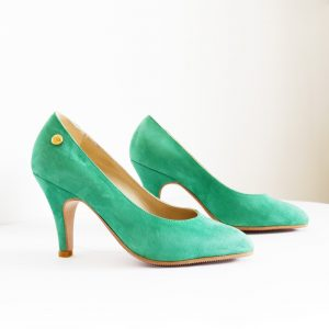 Emerald Green Suede Pumps