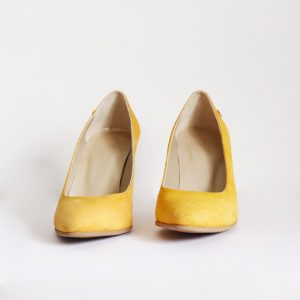 Mustard Yellow Pointy Pumps with High Stiletto Heel