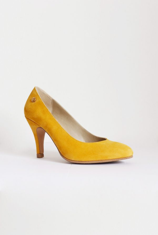 Mustard Yellow Suede Pumps