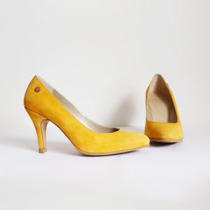 Mustard Yellow Suede Stilettos