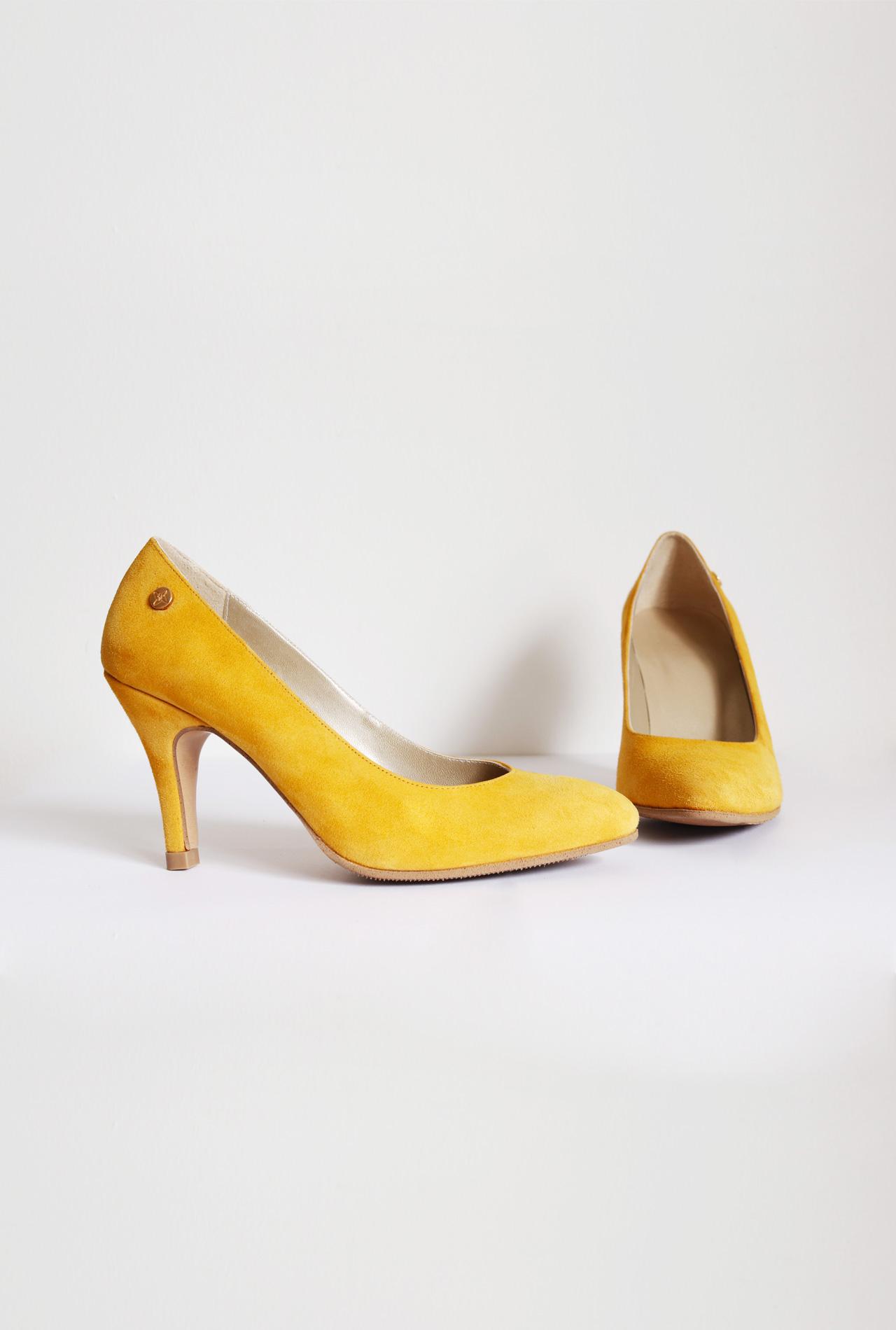 Mustard Yellow Suede Stilettos | Small