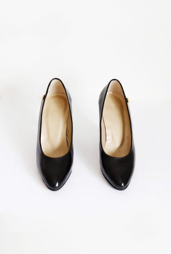 Patent Leather Black Stilettos