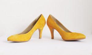 Mustard Yellow Suede Heels