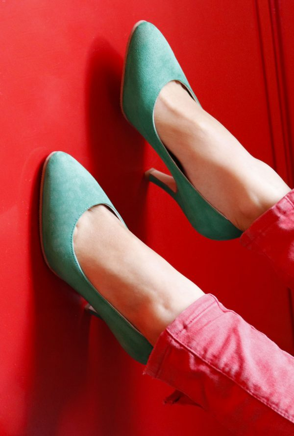 Emerald Green Stiletto in use size 33