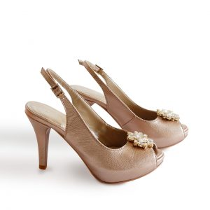 Sand Gold Leather Sandals Both Sides