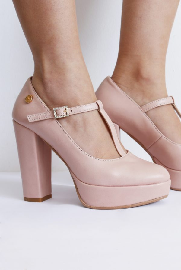 Nude High Heel Platforms in Small Size for Women