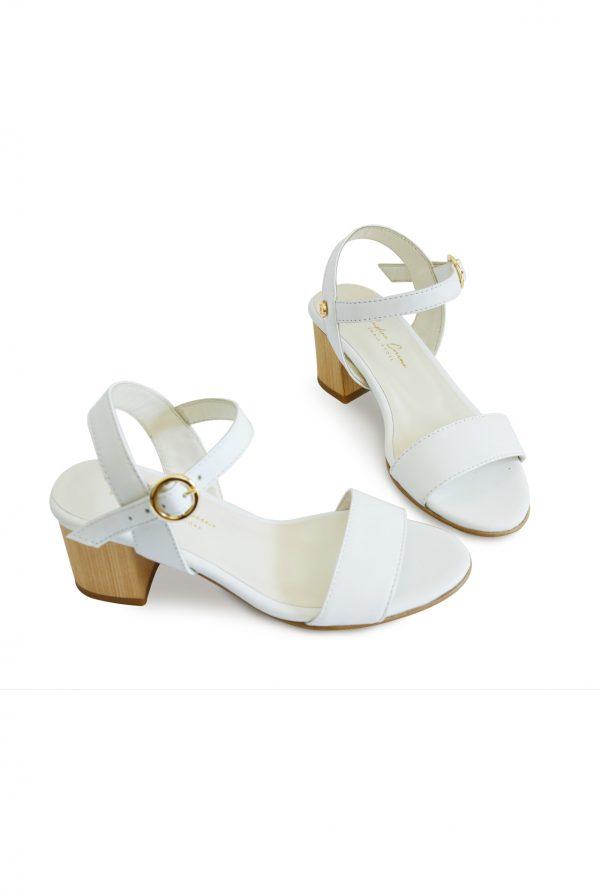 Wooden Heel Sandals Pair