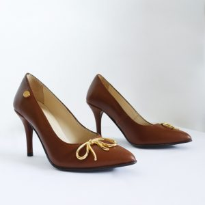 Brown Stilettos Pair on the Sides