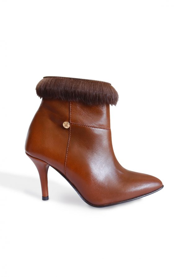 Madrid Brown Ankle Boot Side