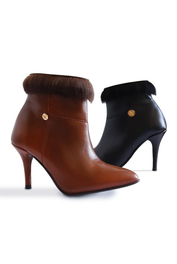 Madrid Ankle Boots in Black and Brown